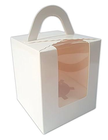 Ibex Single Cupcake Box weiß 10Stück (Single Cupcake Box)