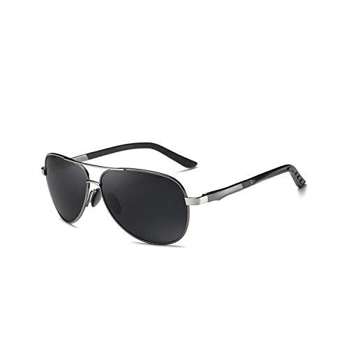 Sportbrillen, Angeln Golfbrille,Aluminum Men Polarisiert Sunglasses Men Brand Original Design Goggles Male Metal Frame UV400 Glasses Gafas De Sol Package A Black Black