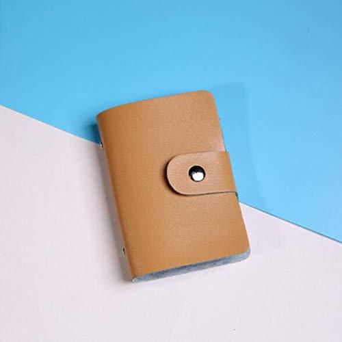 Kreative stilvolle Kartenetui 24 Slots PU-Leder Visitenkartenetui Männer Frauen Credit Passport Card Tasche ID Card Wallet - Khaki -