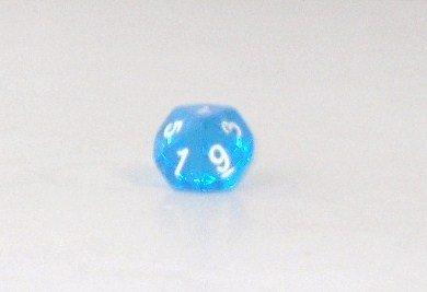 Weible Spiele Schulwürfel - Trapezoeder Transparent, blau 2 Stück
