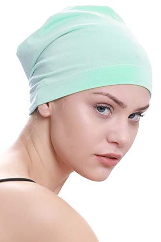 Deresina Headwear Deresina Headwear Schlafmütze Aus Baumwolle für Krebs, Haarverlust (Apfelgrün)