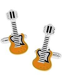JUMP Camiseta De Las Señoras Gemelas Camisa De Vestir De Las Señoras Amarillo Guitarra Eléctrica Botón