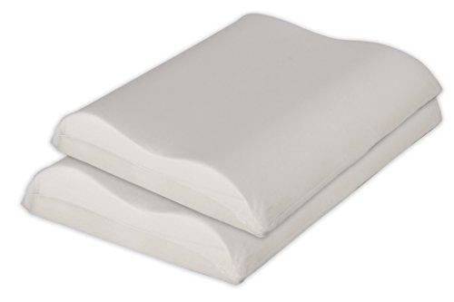 Premium Memory - Oreiller pour cervicales 2 pezzi - Federa in cotone Bianco