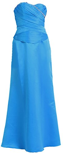 Abendkleid lang Brautjungfernkleid Abi-Ballkleid Corsagen-Kleid Satin