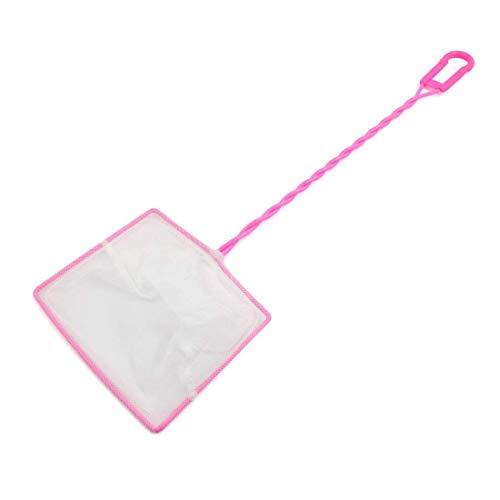 Sungpunet Kescher für Aquarien, 15 cm breit, mit Kunststoffbeschichtung, Pink