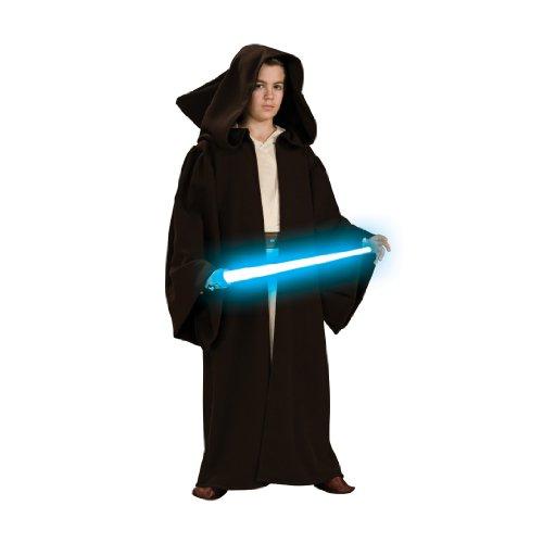 Star Wars Kinder Kostüm Jedi Robe Kapuze Gr. 5 bis 7 ()