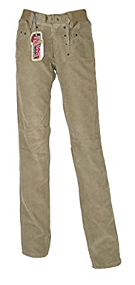 "Dolce & Gabbana Audacious Mens Tight fit low waist Vintage and Destressed Cord Green Jeans Size 32/UK 34"" waist"