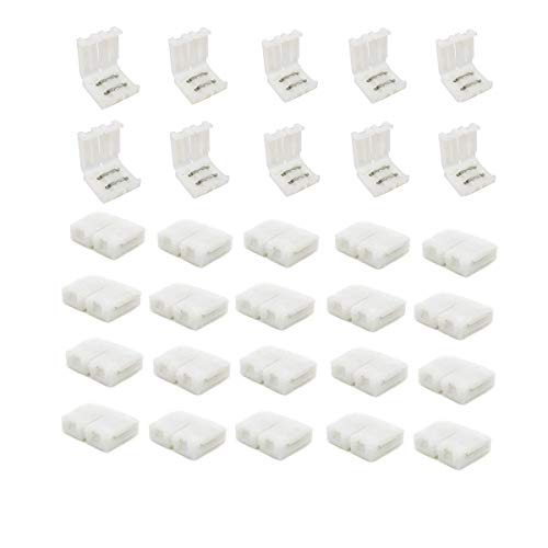 30pcs/pack SMD 3528 2835 5050 8mm LED Streifen Verbindung 2 Polig Schnell Verbinder Connector 8mm gerade ohne Löten