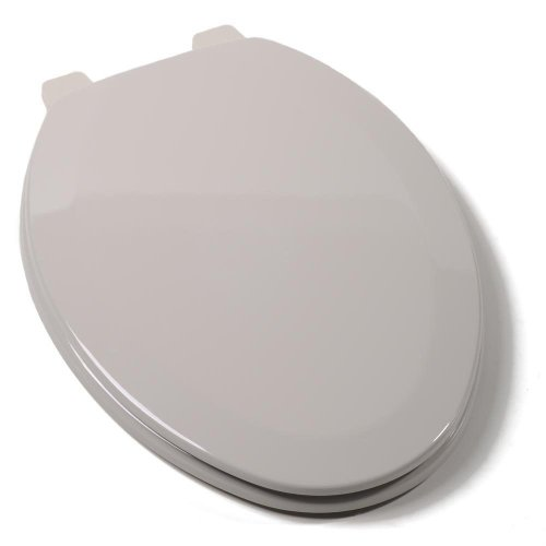 Comfort Seats C014WD80 Deluxe Molded Wood Toilet Seat, Elongated, Silver by Comfort Seats