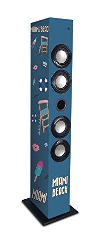 Metronic 477096 Bluetooth Säule Miami Lautsprecher Blau