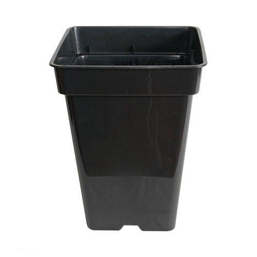 POT carré noir 11 litres - 23x23x27,5cm
