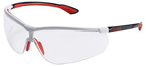 Uvex Sportstyle Retail Schutzbrille - Suprav. Extreme - Transp./Schwarz-Rot