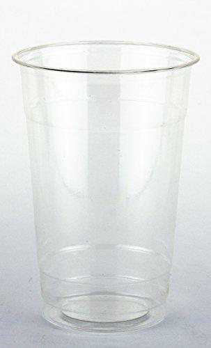 Verre à bière-Plastique biodégradable-Transparent-Lot de 50