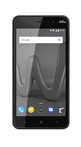 Wiko Lenny4-5 HD Smartphone (Dual SIM, 2 GB RAM, 16 GB interner Speicher, 8 und 5 MP Kameras mit LED-Blitz, Android 7.0 Nougat, Metallic-Finish) Schwarz