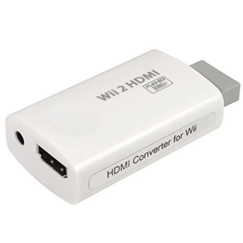 Wii to HDMI 720P / 1080P HD Output with 3.5mm Headphone Jack Upscaling Converter - Supports All Wii Display Modes, HDMI Upscale to 720p or 1080p