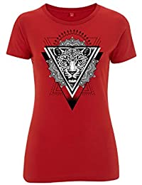 Maglietta da Donna di Cotone 100% con Stampa Digitale Gepardo af5771731b2