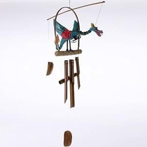 Un grand coloré à suspendre en forme de Dragon bambou Bali Carillon à vent, pour un commerce équitable