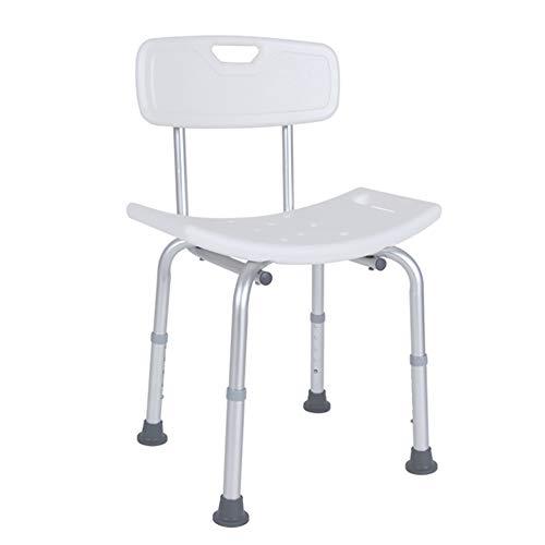 Dusche & Bad Hocker Verstellbare Duschstühle Und -bänke Mit Armlehnen Und Rückenlehne Weiß Anti-Rutsch-Bank Badezimmerhocker (Farbe: Silber) QIANG-w -