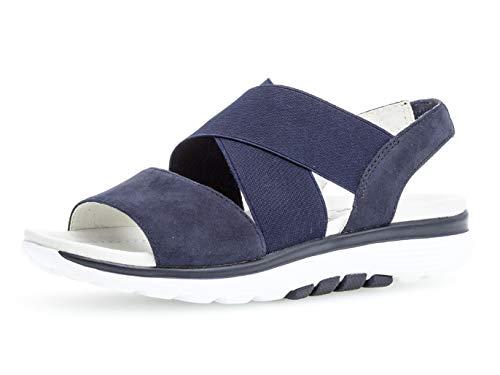 Gabor Damen Plateausandalen 26.915.36, Frauen Plateau-Sandalette,Sommerschuh,bequem,Dicke Sohle,Blue,43 EU / 9 UK - Sohle Comfort Schuhe