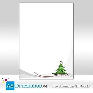 Designpapier Weihnachten - Roter Stern / 25 Blatt/DIN A5 / 90 g-Offsetpapier