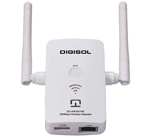 Digisol DG WR3001NE 300Mbps Wireless Repeater  White