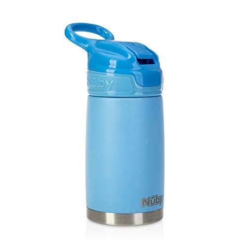 Nuby Sippy Cup Trinkflasche, Edelstahl, Blau matt Matt Cup