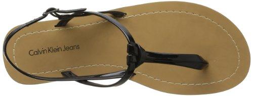 Calvin Klein Jeans Sage Patent, Sandales femme Noir (Blk)