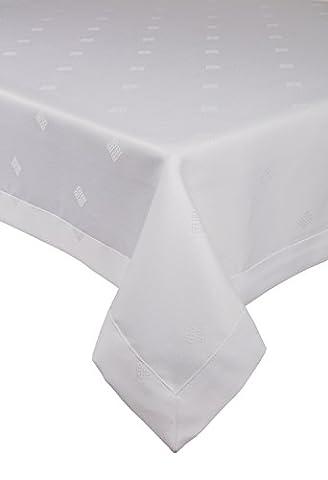 Dkaren- Elegante und festliche wasserabweisend mit Lotus-Effekt Tischdecke Tischtuch für jeden Anlass (O547) Weiß (140x320cm)