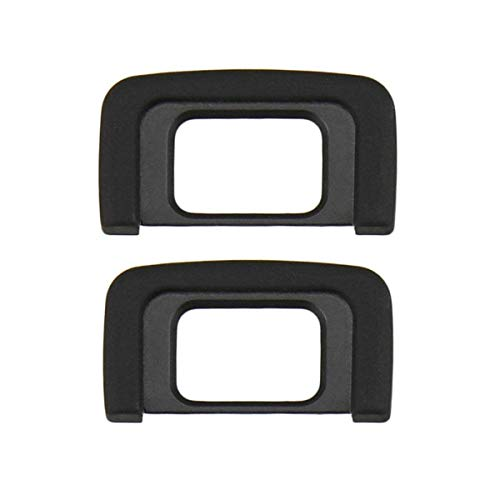 HomyWord 2 PACK DK-25 Ocular ocular negro / Ocular / Visor Para Nikon D5600, D5500, D5400, D5300, D5200, D5100, D5000, D3400, D3300, D3200, D3100, D3000, reemplaza el ocular Nikon DK-25