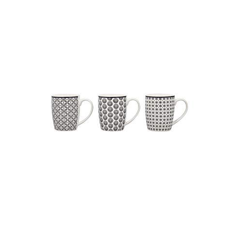Reception 2414102 Lot de 6 Tasses GRAPHIK en Porcelaine de Qualité de 32 cl