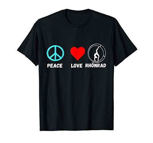 Rhönrad Peace Love Rhönradturnen Leichtathletik T-Shirt