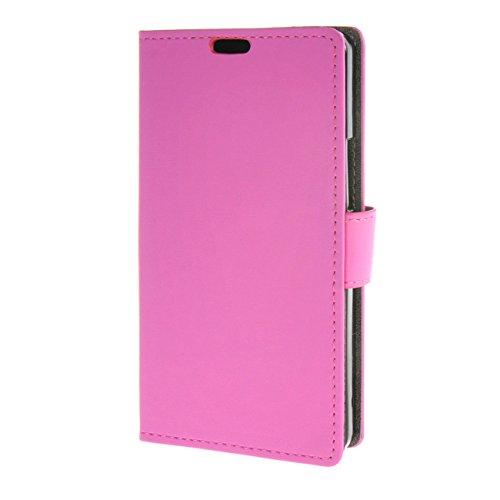 MOONCASE Hülle für BQ Aquaris M5 Tasche Flip Leder Schutzhülle Etui Schale Case Cover Rosa