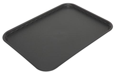 Tablett (Harfield Tablett, flach, 41 x 30 cm, Polypropylen, schwarz, 41 X 30cm)