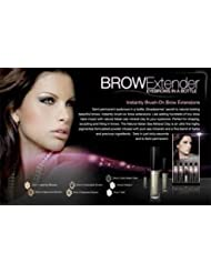 Divaderme Brush on Eyebrow Extender semi permanent brows adds tiny hairs to your eyebrows- chocolate brown