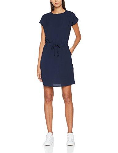 VERO MODA Damen Kleid Vmsasha Bali S/S Dress Noos, Blau (Navy Blazer Navy Blazer), 36 (Herstellergröße: S)
