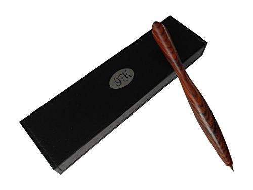 Edle Kugelschreiber aus Holz mit weiß-schwarzem Etui in einzigartigem Design: eigene handgemachte...