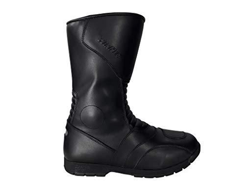 WinNet Stivali Stivaletti da per Moto in di Pelle con Protezioni (43 EU)