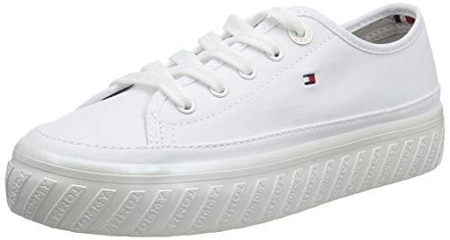 Tommy hilfiger outsole detail flatform sneaker, scarpe da ginnastica basse donna, bianco (white 100), 39 eu