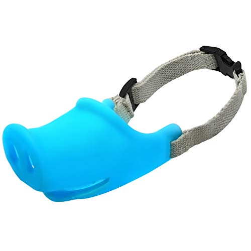 Dackel Schwein Kostüm - Breathable Pig Dog Muzzle Mundmaske Silikon Anti-Bite Bellen für Kleine Hunde Haustiere Blau Grün für Kleine Hunde Chihuahua Corgi Dackel Shih TZU Teddy