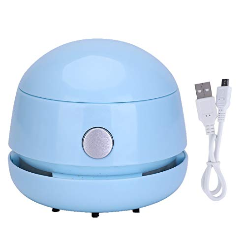 FineInno Aspirador de Mesa Recargable Mini Vacuum Cleaner Aspirador de Teclado Desktop Sweeper Inalámbrica...
