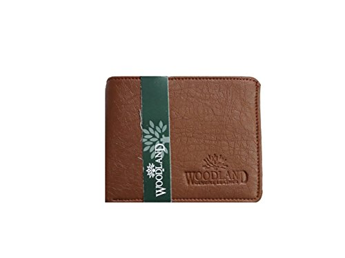 Woodland Original Leather Wallet With BI-FOLD Card Slots For Men/Boys (Brown)  available at amazon for Rs.159