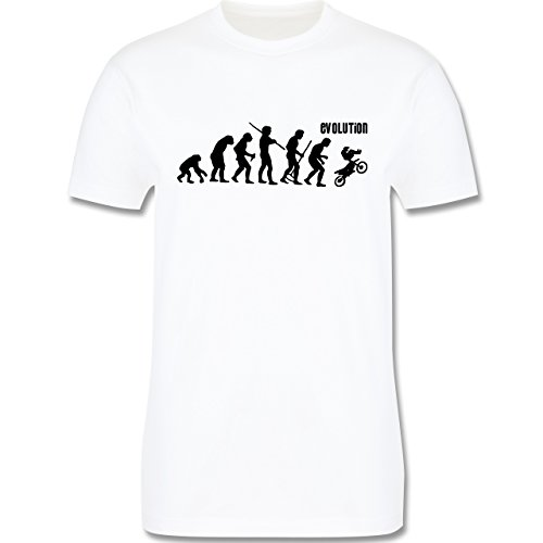 Evolution - Motocross Evolution - Herren Premium T-Shirt Weiß
