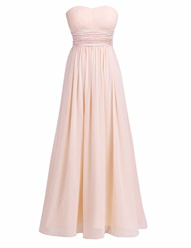 Freebily Damen Kleider Bandeau Kleid Maxi Kleider trägerlose Abendkleider Ballkleid Cocktailkleid...