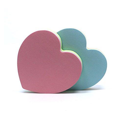 Haftnotizen, Selbstklebende Notizzettel in Herzform, 2 Stück