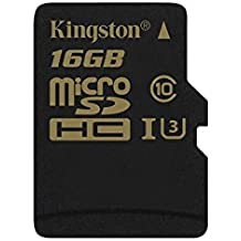 Kingston SDCG/16GBSP Gold Tarjeta de memoria microSD de 16 GB con UHS-I Speed Class 3 (U3)