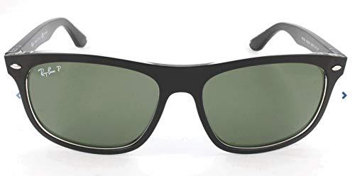 RAYBAN Unisex Sonnenbrille RB4226, (Gestell: Schwarz, Gläser: Polarized Grün Klassisch 60529A), Large (Herstellergröße: 56)