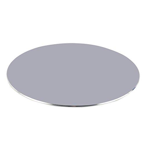 Zoohot Aluminiumspiel-Mausunterlage Mit rutschfester Gummibasis, Runde Mausunterlage des Büros (Grau)
