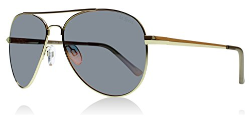 Le Specs Gold Drop Top Aviator Sunglasses Lens Category 3 Lens Mirrored Size 50mm