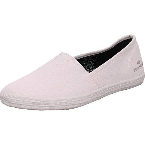 TOM TAILOR Damen 485200330 Sneaker, Weiß (White), 38 EU