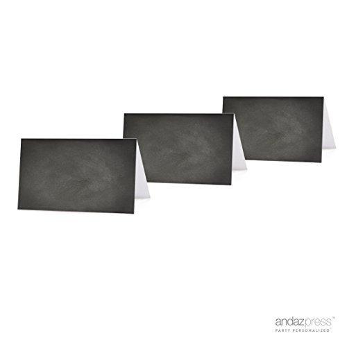 Zelt bedruckbar Tischkarte auf perforiert Blank Chalkboard (Rabatt Baby-dusche Dekorationen)